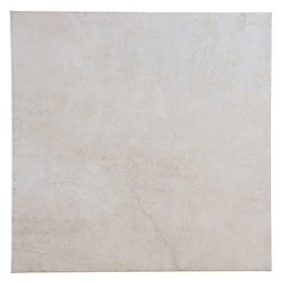 Metallic Cream Porcelain Floor Tile, Pack of 16,