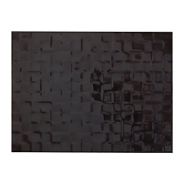 Designer Black Abstract Ceramic Wall Tile, Pack of