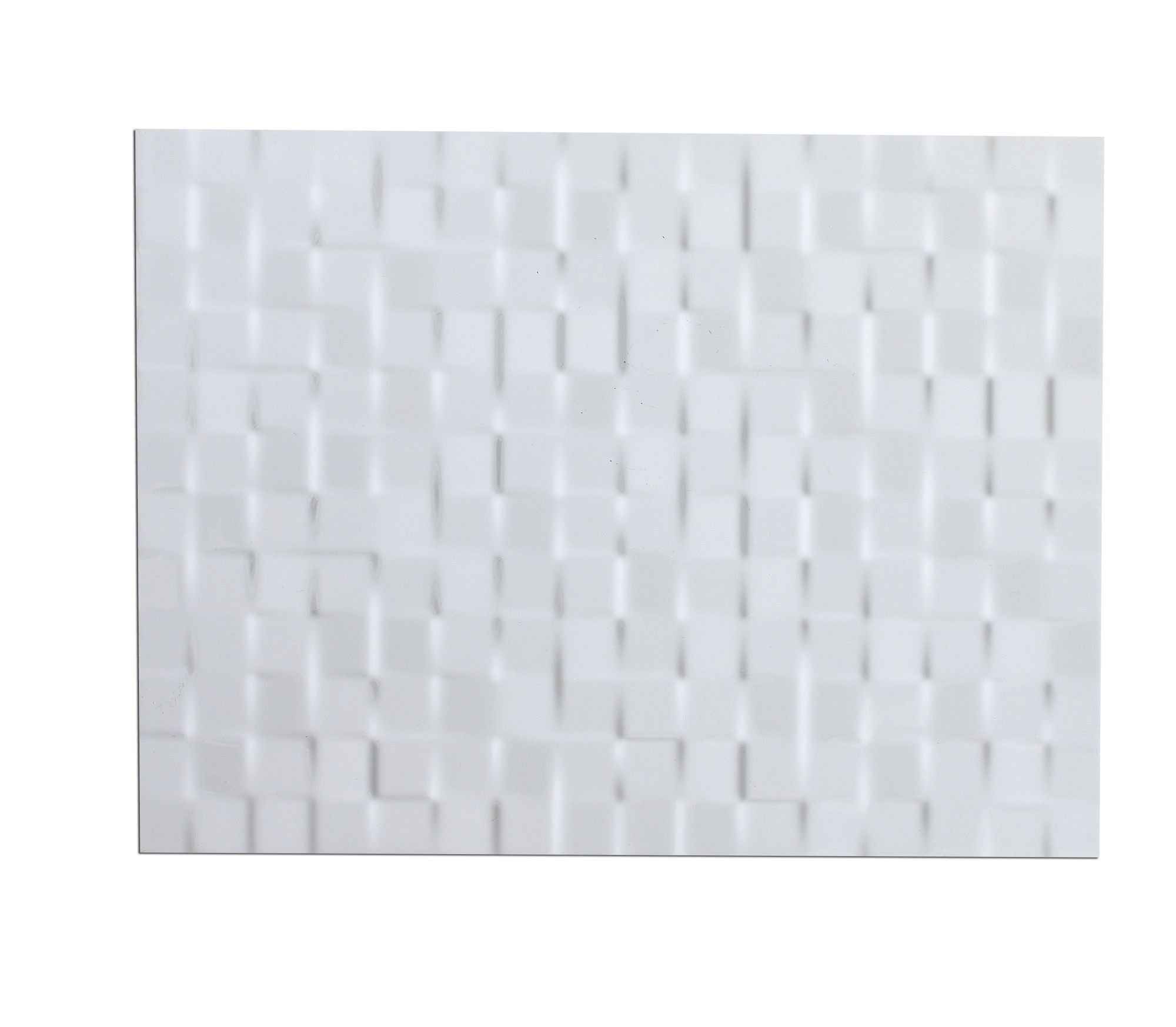 Designer White Abstract Ceramic Wall Tile Pack Of 8 L