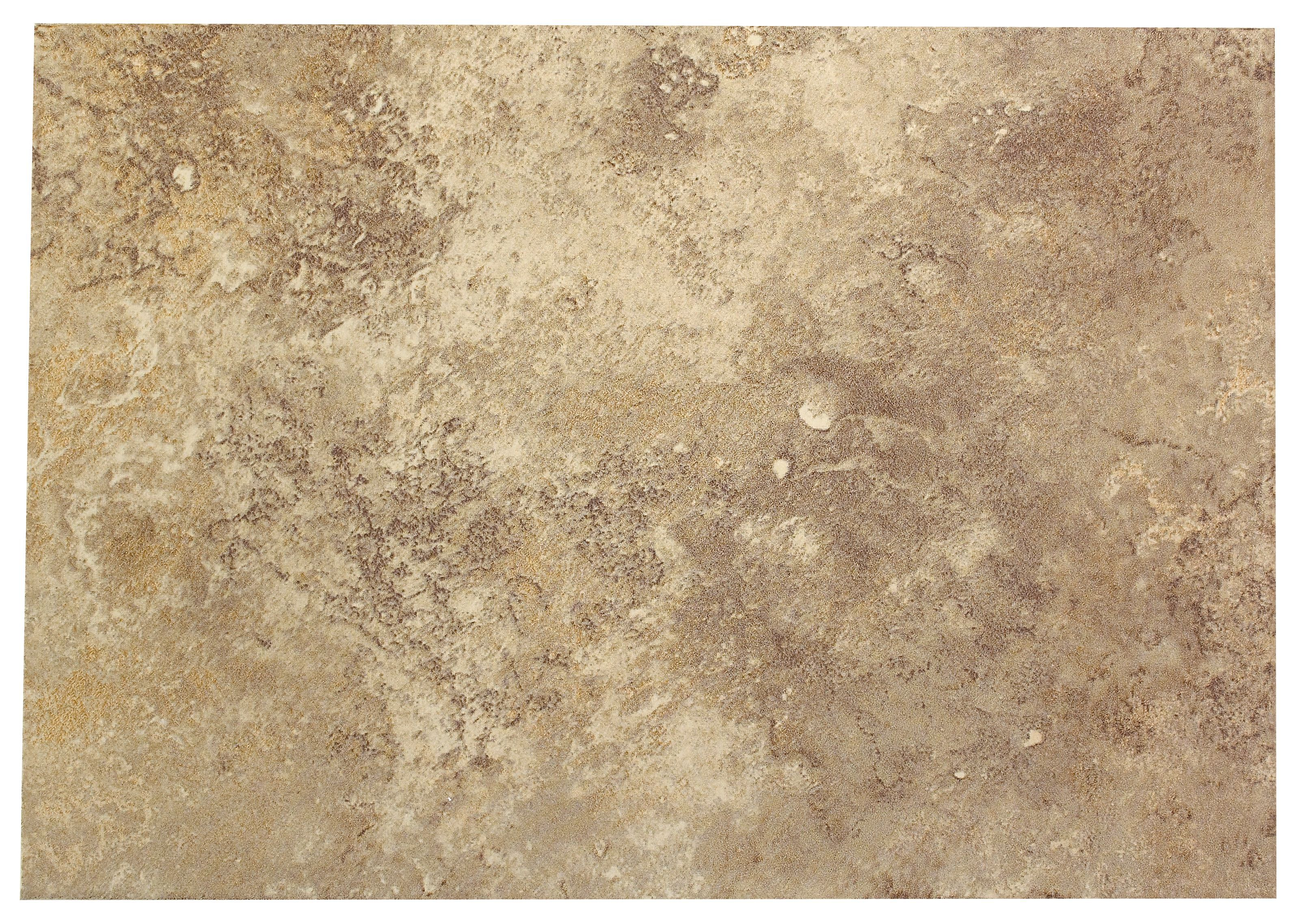 castle travertine coffee ceramic wall tile, pack of 7, (l)450mm (w