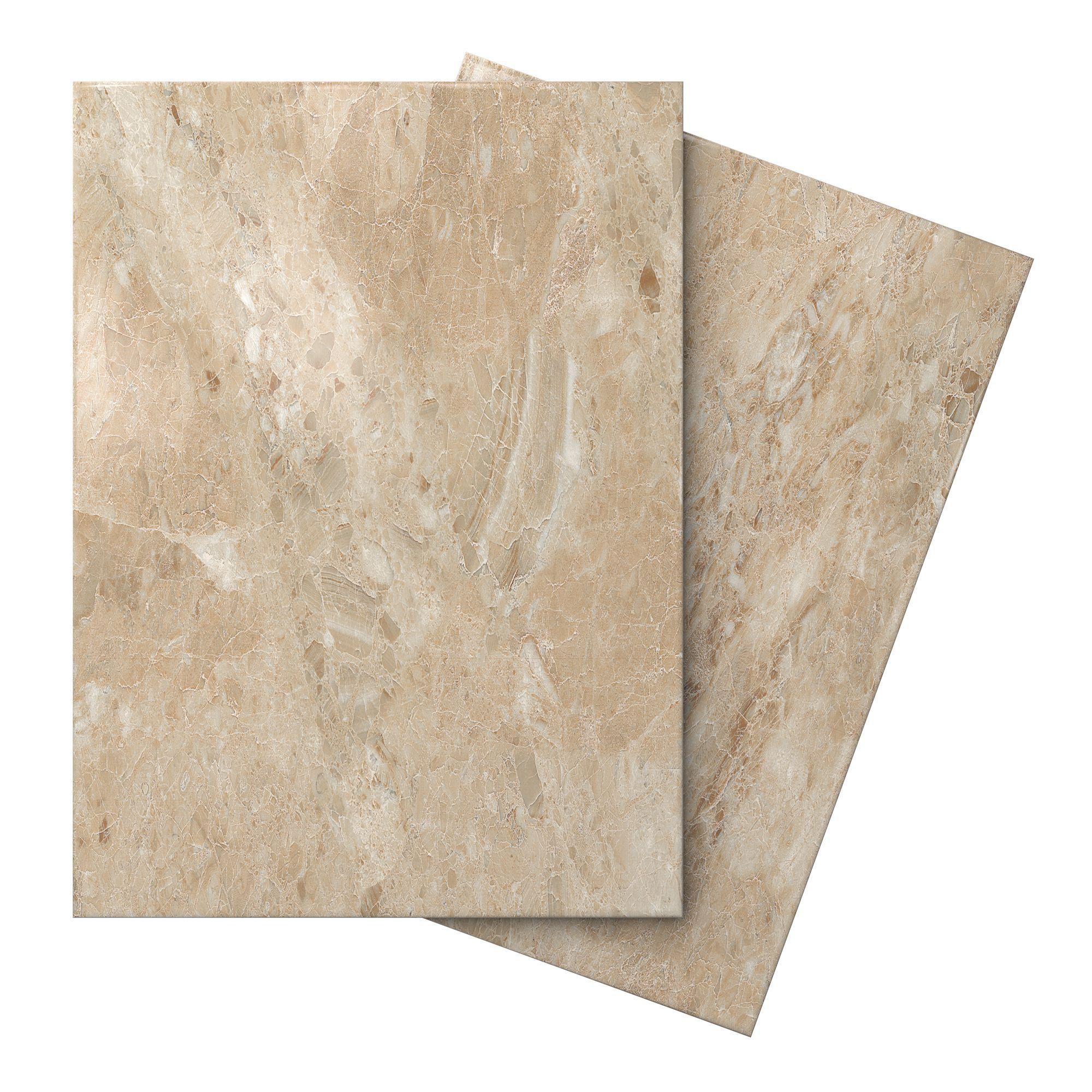 Bq Ceramic Kitchen Floor Tiles Illusion Mocha Marble Effect Ceramic Wall Floor Tile Pack Of 10