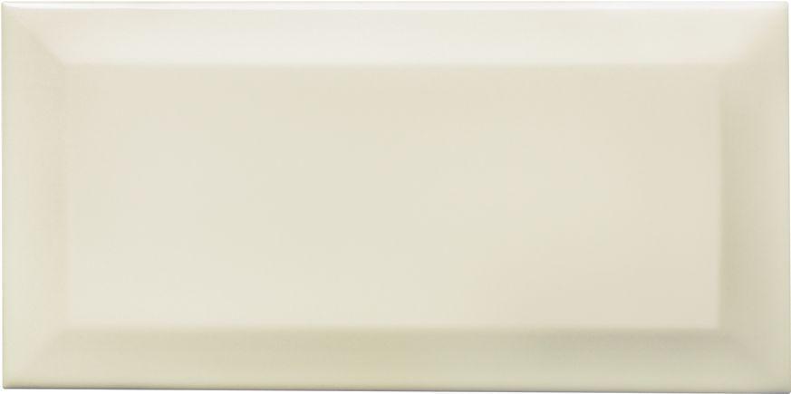 Bevelled Edge Cream Ceramic Wall Tile Pack Of 50 L