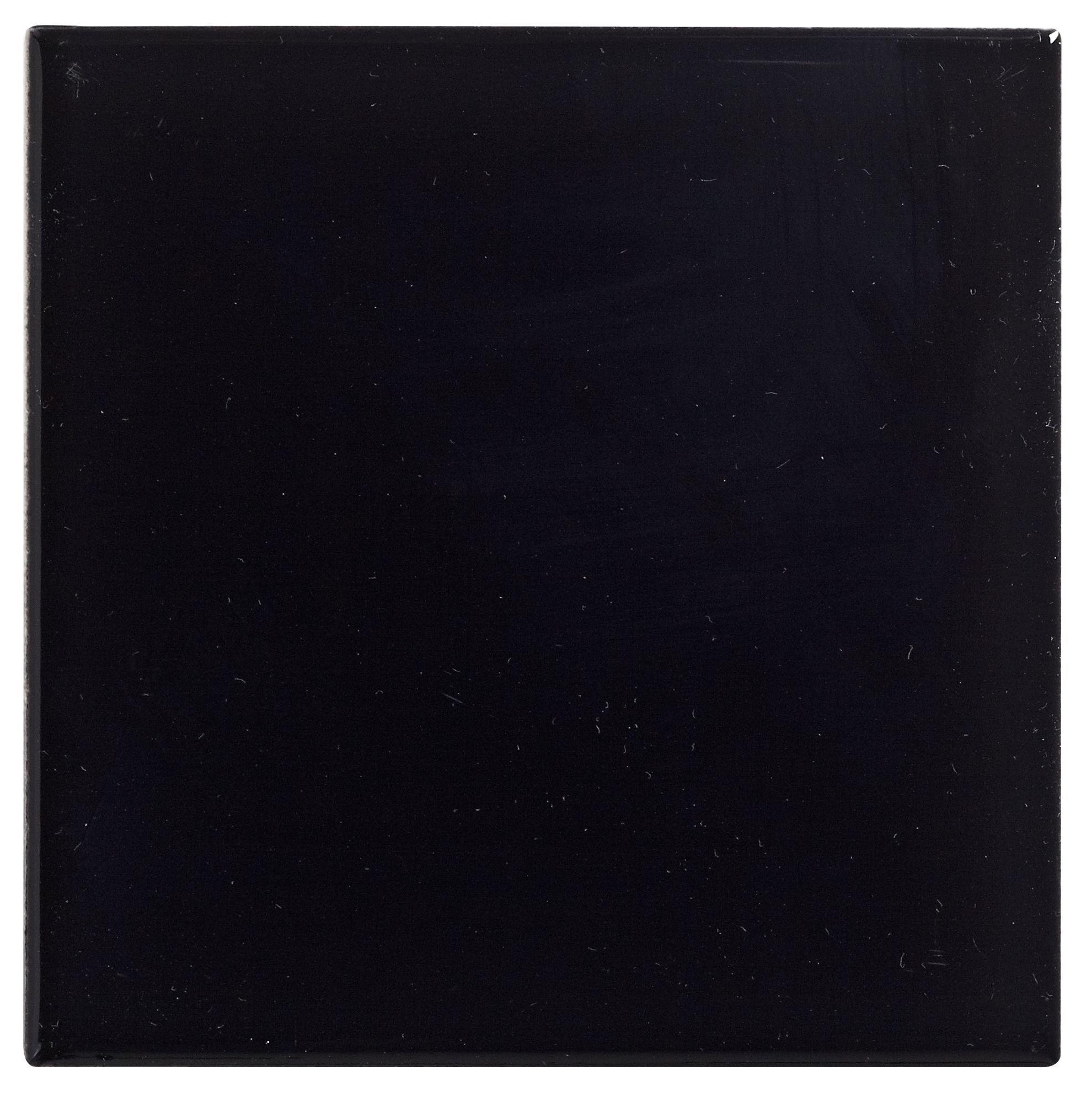 Utopia Black Ceramic Wall Tile, Pack Of 25, (l)100mm (w)100mm