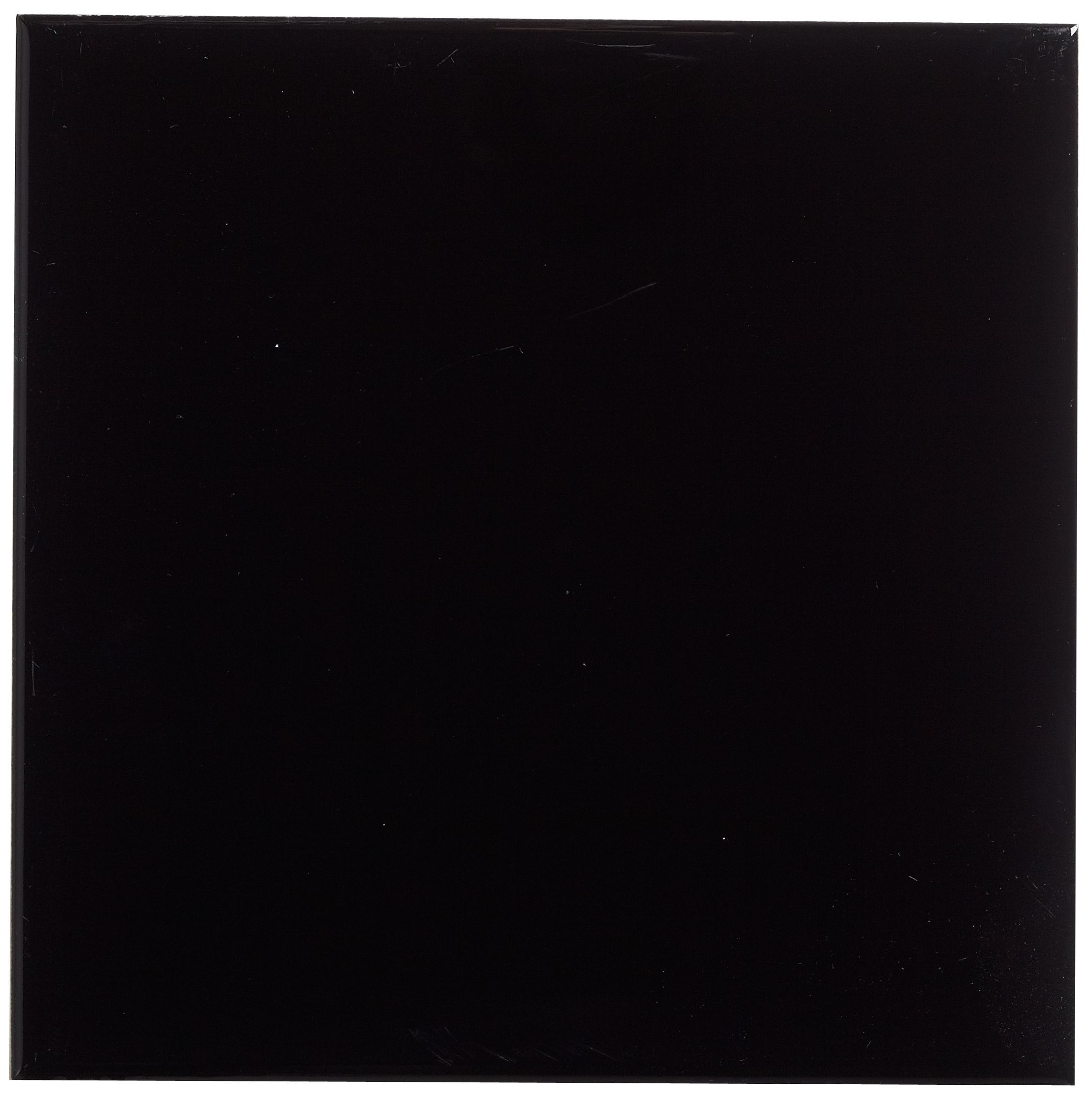 Utopia Black Ceramic Wall Tile, Pack Of 44, (l)150mm (w)150mm