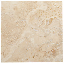 Single Piece Natural Travertine Wall Tile, (L)305mm (W)305mm