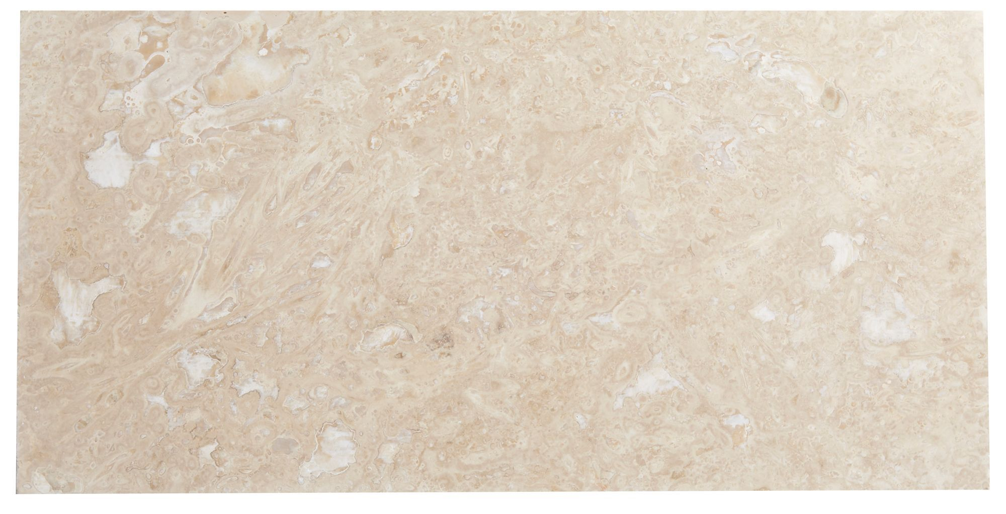 Single Piece Natural Stone Effect Travertine Wall Tile, (l)610mm (w)305mm