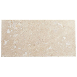 Single Piece Natural Travertine Wall Tile, (L)610mm (W)305mm
