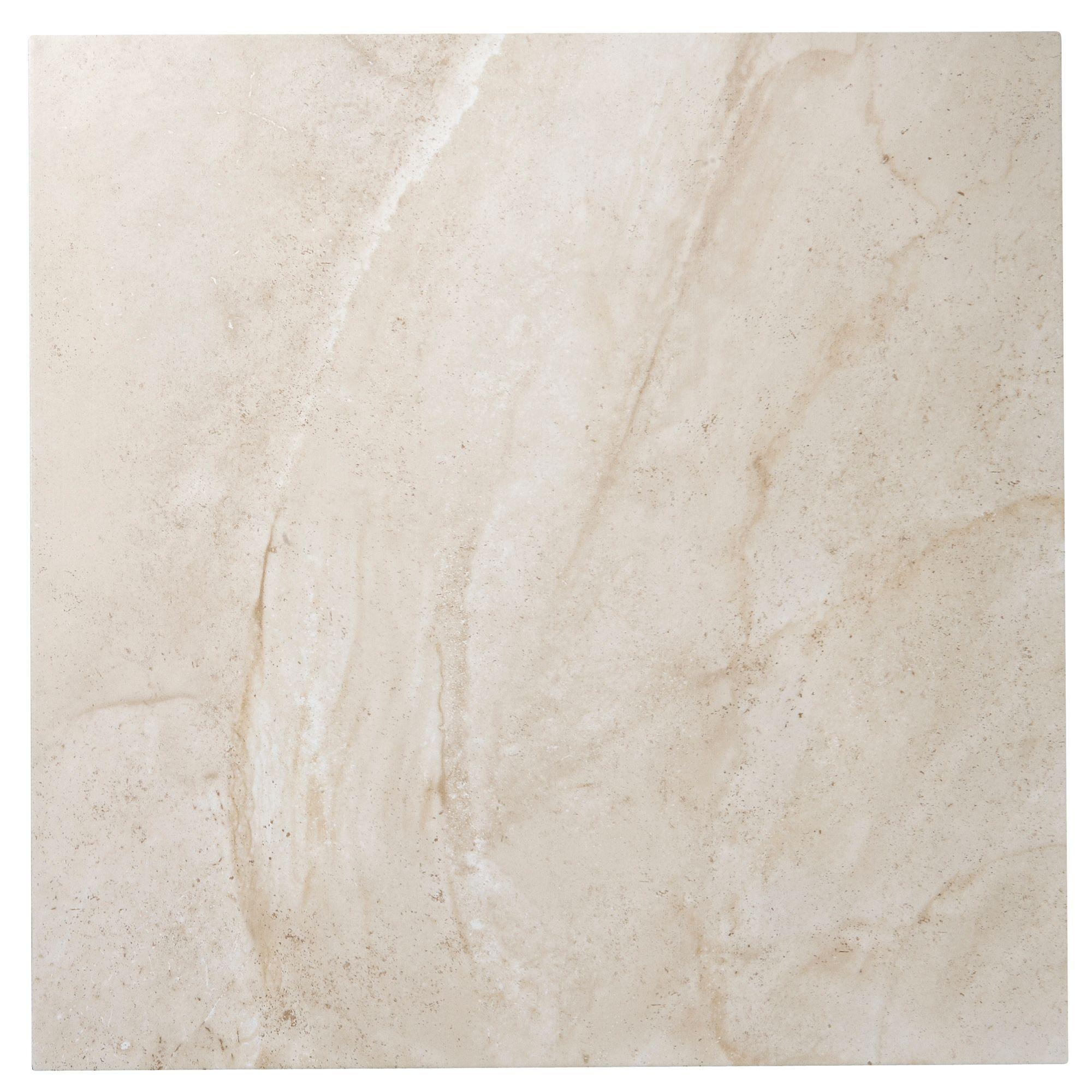 Manhattan beige stone porcelain floor tile pack of 3 l for Manhattan beige paint color
