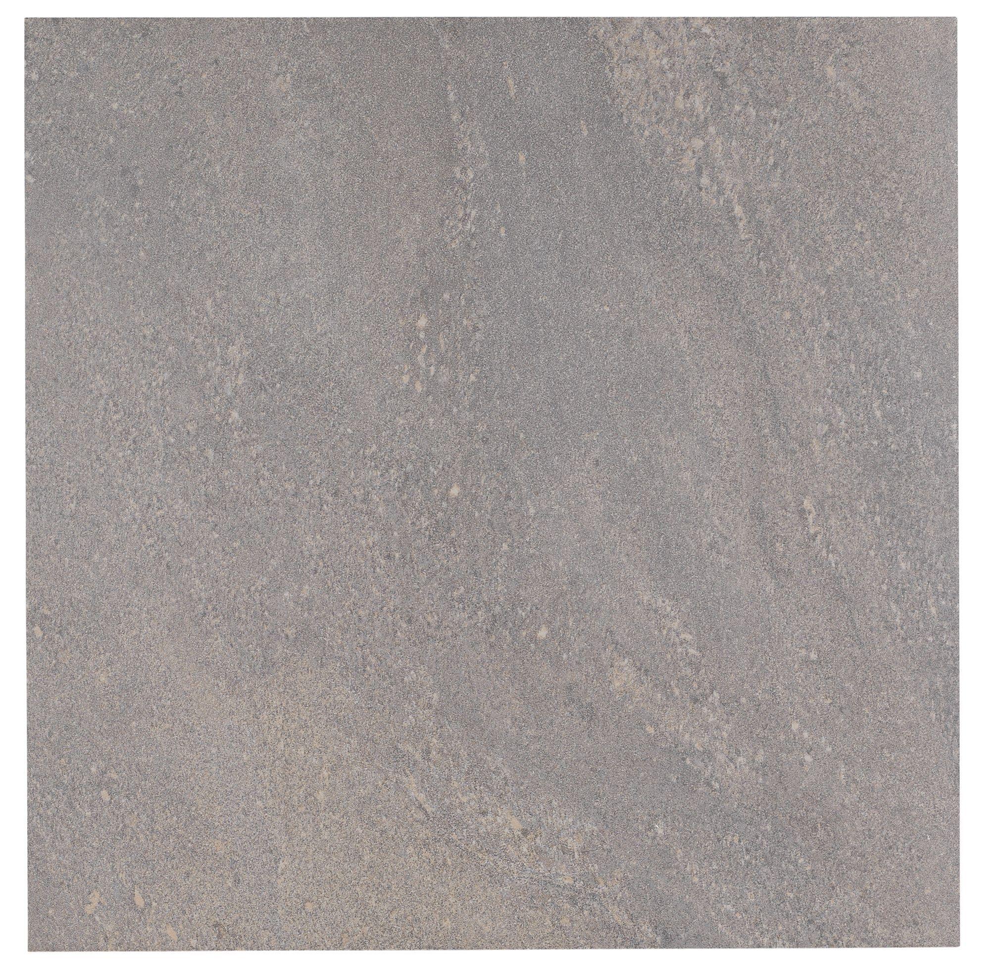 Antayla Grey Stone Porcelain Floor Tile, Pack of 3, (L)600mm (W)600mm