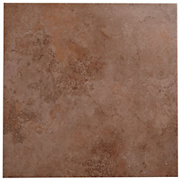 Castle Travertine Chocolate Stone Effect Ceramic Wall &