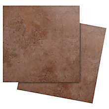 Castle Travertine tiles in chocolate