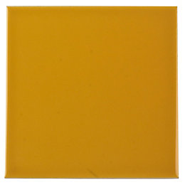Utopia Yellow Wall Tile, (L)147mm (W)147mm