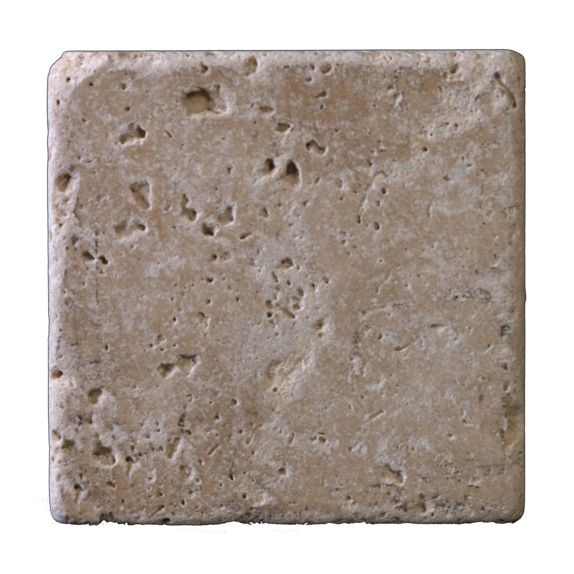 Beige Matt Travertine Wall Tile, (l)100mm (w)100mm