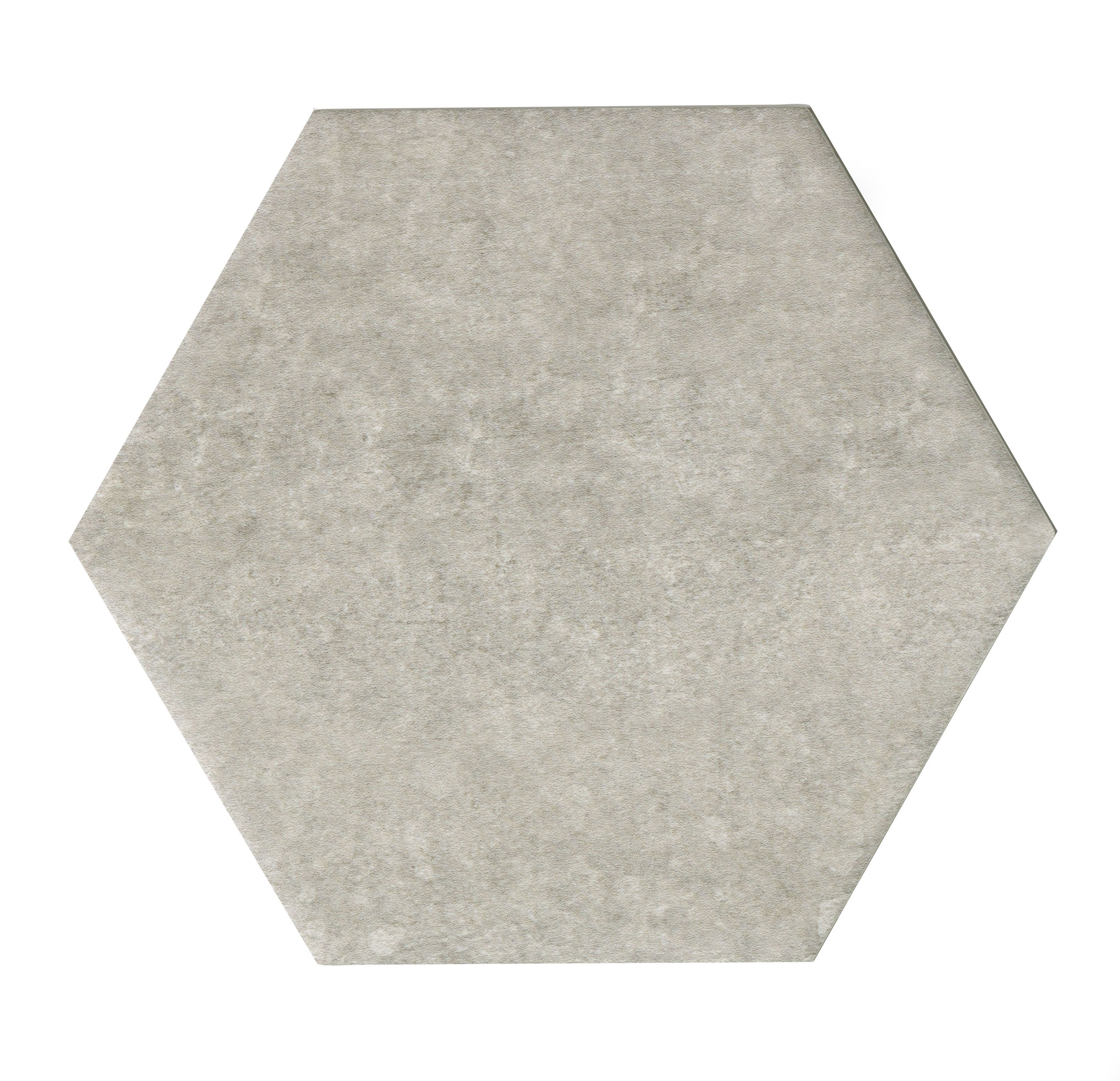 Urban Grey Stone Effect Concrete Effect Hexagon Ceramic Wall Tile, Pack Of 50, (l)150mm (w)173mm