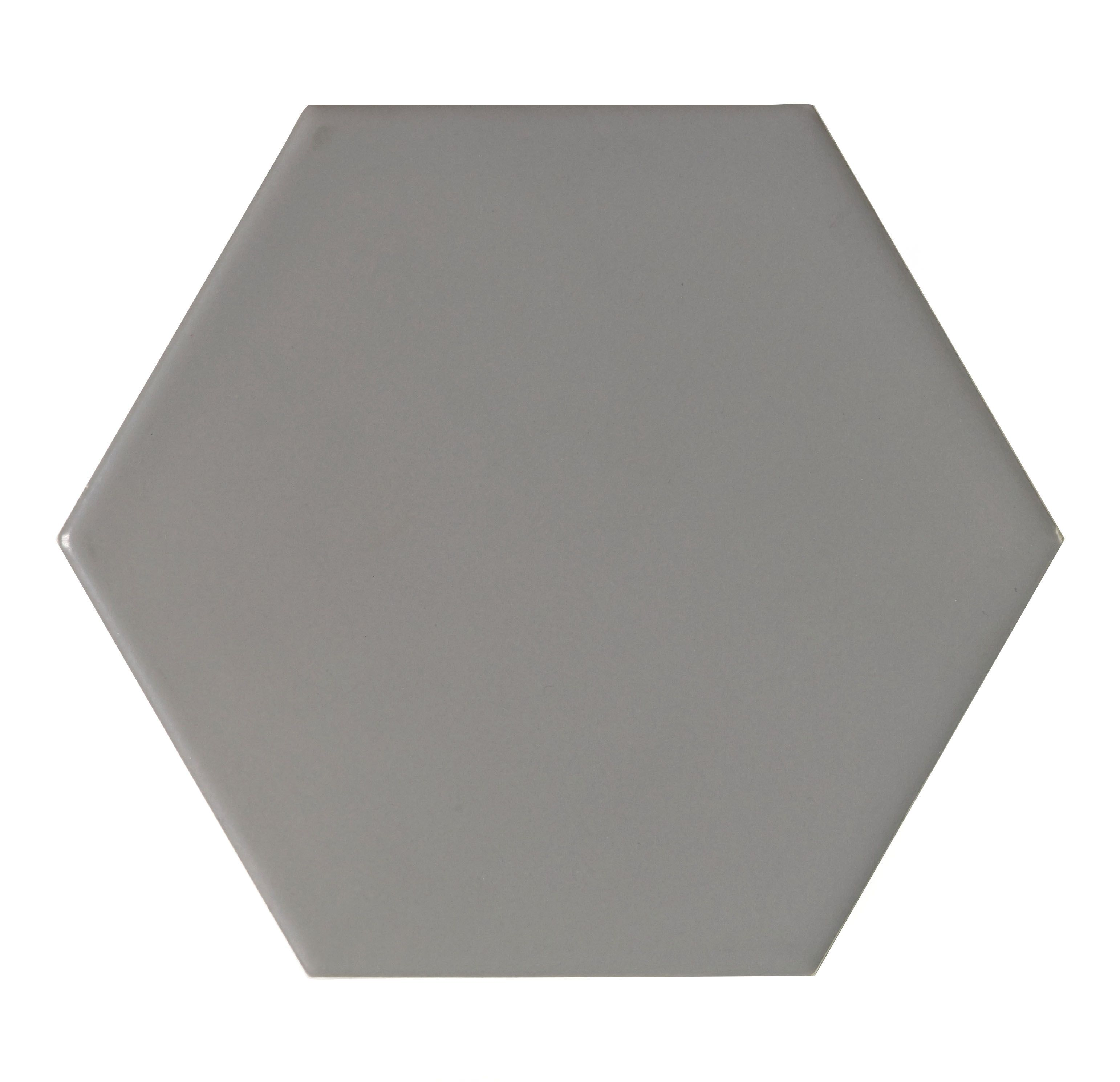 City Chic Stone Stone Effect Hexagon Ceramic Wall Tile, Pack Of 50, (l)150mm (w)173mm