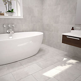 Urban Cement Grey Ceramic Wall & Floor Tile,