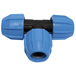Polypipe Compression Equal Tee (Dia)20 mm
