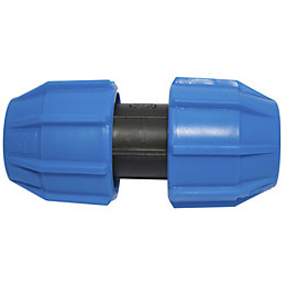 Polypipe Compression Coupler (Dia)20 mm