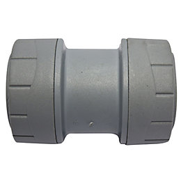 Polyplumb Push Fit Straight Coupler (Dia)28mm
