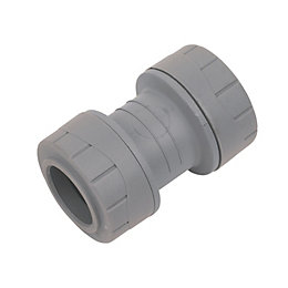 Polyplumb Push Fit Straight Coupler (Dia)22mm