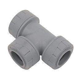 Polyplumb Push Fit Equal Tee (Dia)22mm