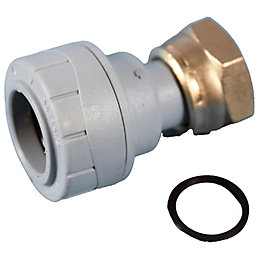 Polyplumb Push Fit Straight Tap Connector (Dia)22mm