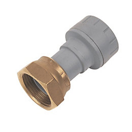 Polyplumb Push Fit Straight Tap Connector (Dia)15 mm
