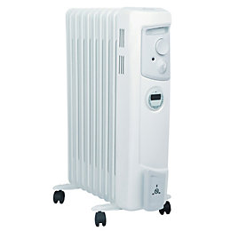 Dimplex Electric 2000W White Oil Filled Radiator with