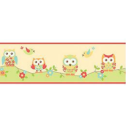Fun4Walls Owl Multicolour Border