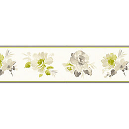 Genevieve Green Floral Border