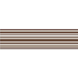 Horizontal Stripe Mocha Striped Border