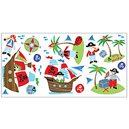 Fun4Walls PIRates Multicolour Self Adhesive Wall Stickers