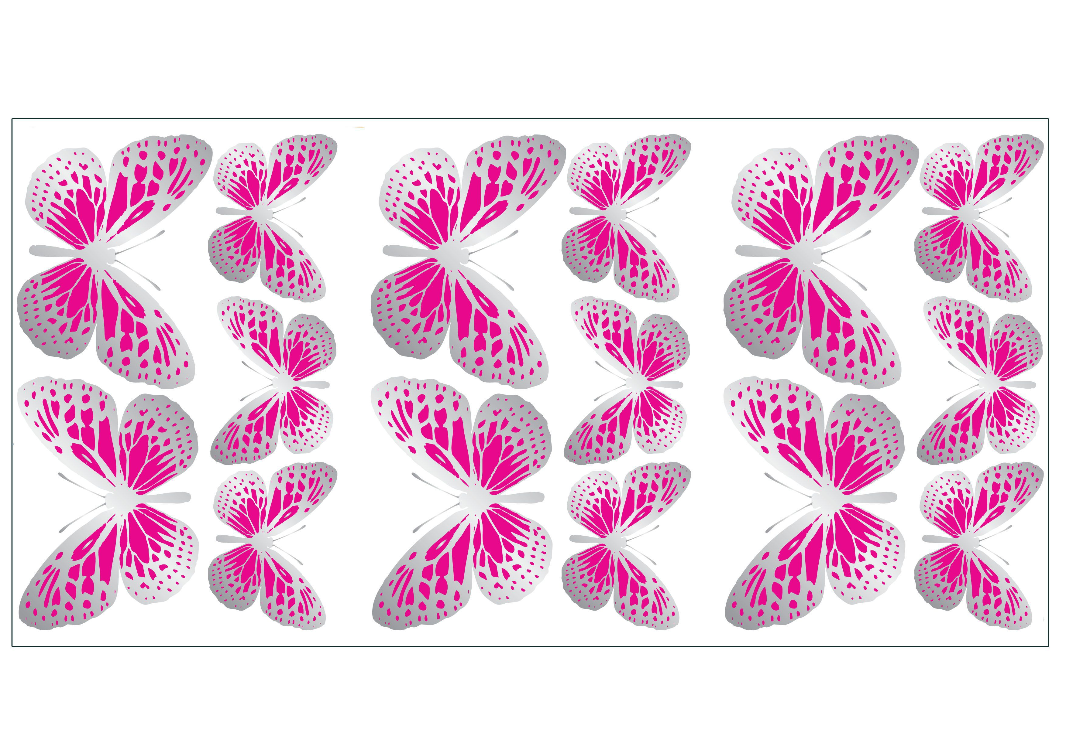 fun4walls butterfly pink self adhesive wall sticker colours animal friends pastels self adhesive wall sticker
