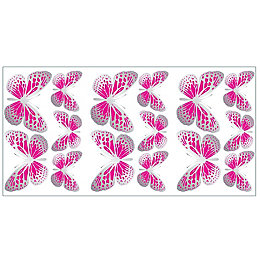 Fun4Walls Butterfly Pink Self Adhesive Wall Sticker