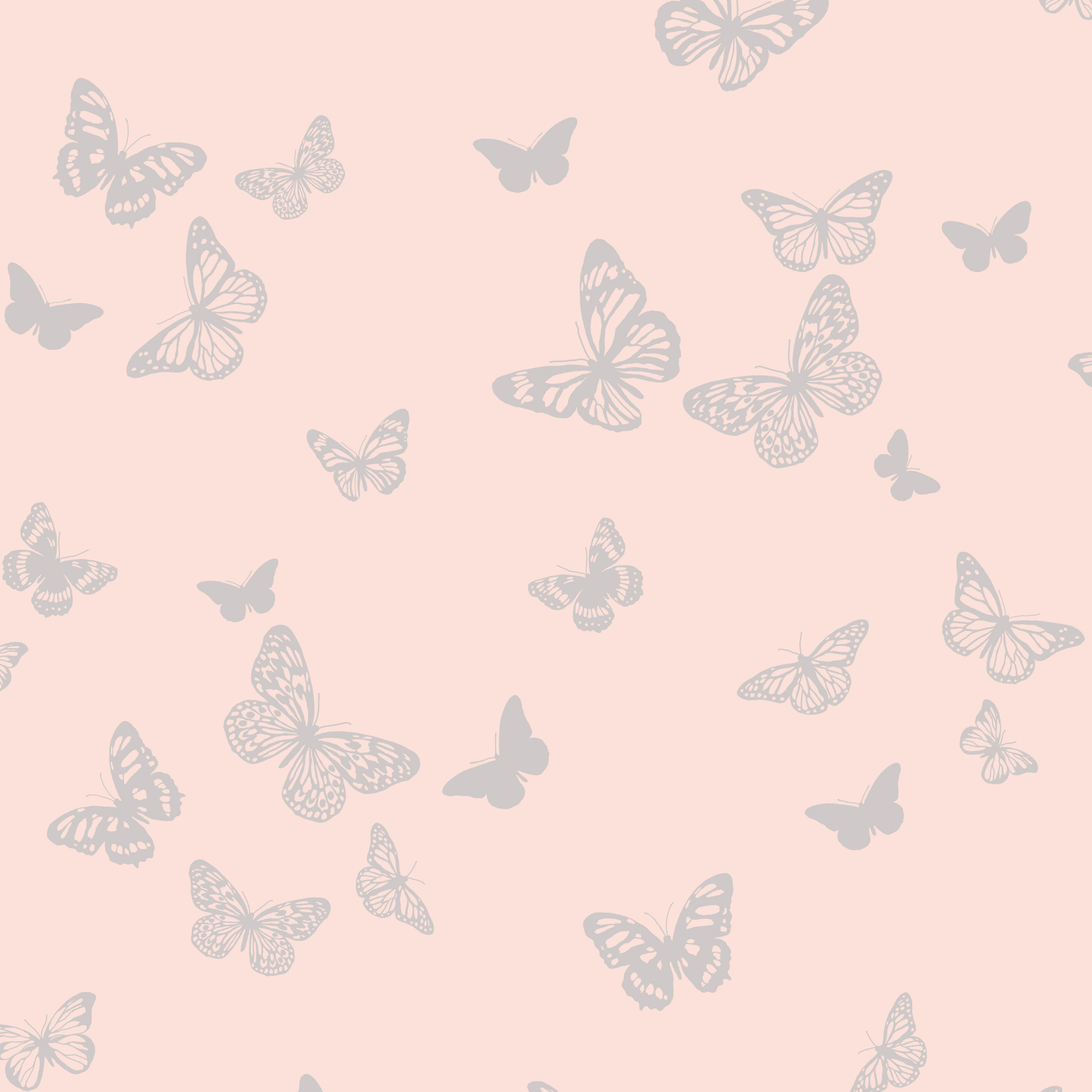 Fine Décor Sparkle Pink Butterfly Glitter Effect Wallpaper ...