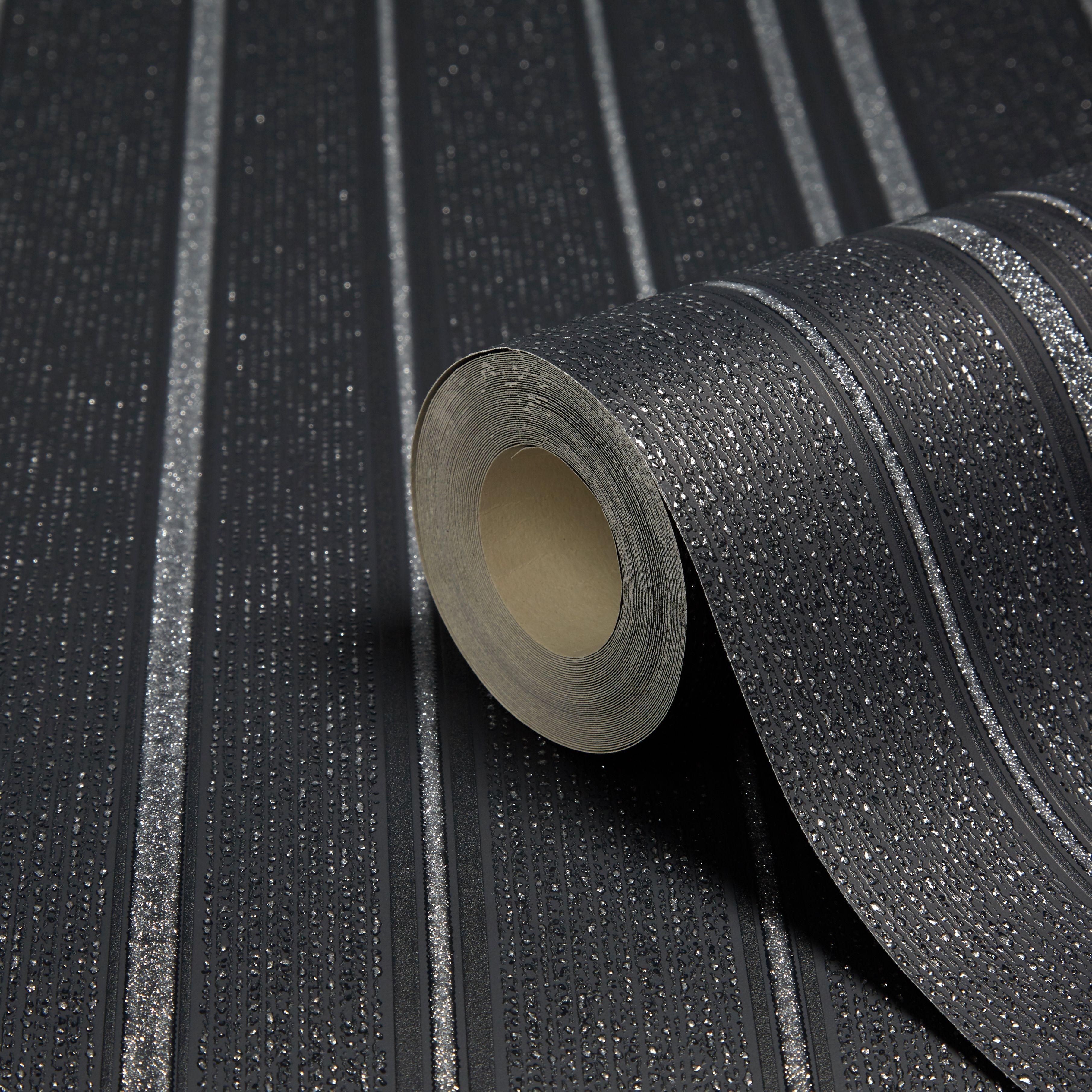 Fine D 233 Cor Winchester Black Amp Silver Stripe Wallpaper