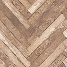 Fine Décor Parquet Wood Plank Natural Wallpaper
