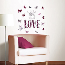 Fine Décor A Little Thing Called Love Purple
