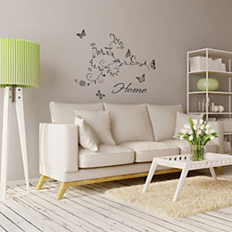 Fine Décor Home Grey Self Adhesive Wall Sticker