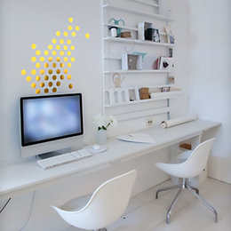 Fine Décor Gold Dots Gold Self Adhesive Wall