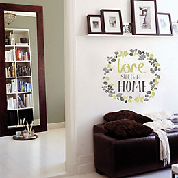 Fine Decor Love Starts At Home Green Self