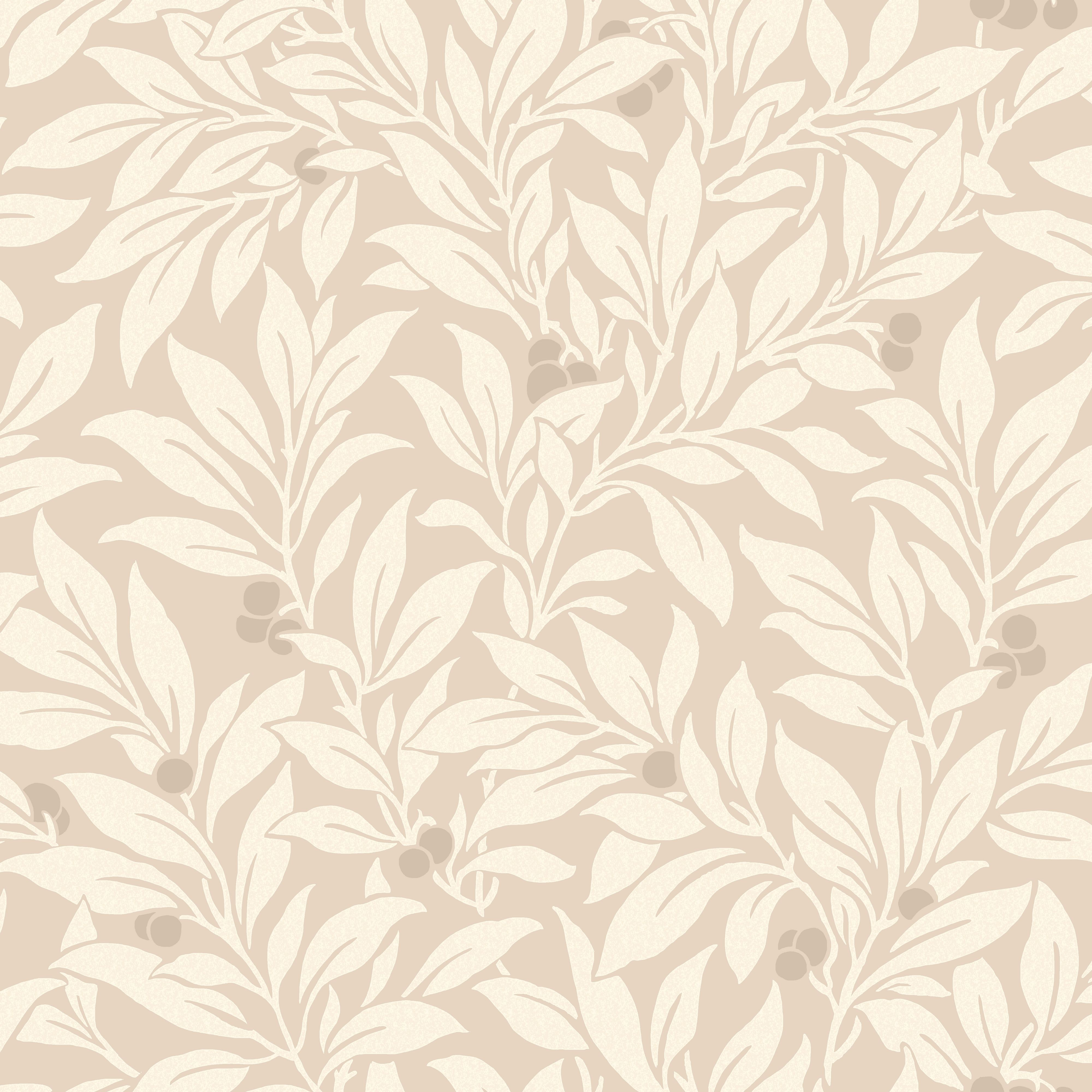 Fine Décor Mulberry Natural Floral Wallpaper