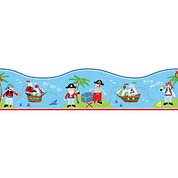 Fun4Walls Multicolour PIRates Self Adhesive Border