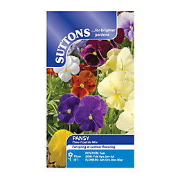 Suttons Pansy Seeds, Clear Crystals Mix