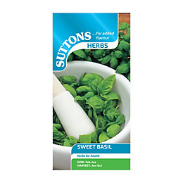 Suttons Basil Sweet Seeds, Herb Mix