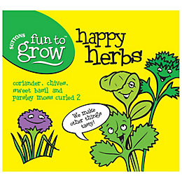Suttons Fun to Grow Happy Herbs Collection Seeds