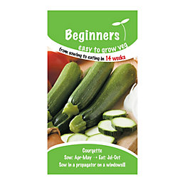 Suttons Beginners Courgette Seeds, F1 Green Bush Mix