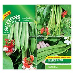 Suttons Bean Seeds, Super Trio Mix