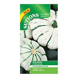 Suttons Squash Seeds, Jaune Et Vert Mix