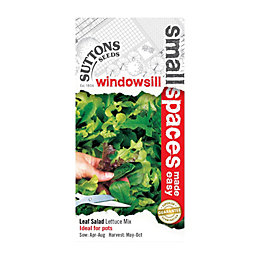 Suttons Small Space Leaf Salad Seeds, Lettuce Mix